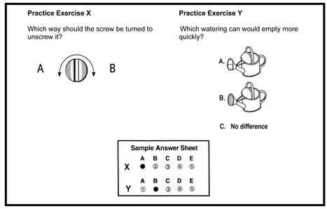 Exemple d'exercice d'aptitude méchanique de Ramsay