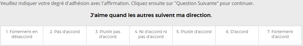 Cubiks Test de Personnalité Facteurs Question Exemple