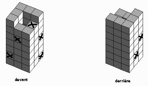Exemple de test de raisonnement spatial comptage de cubes
